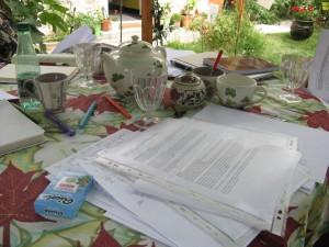 table de l'atelier