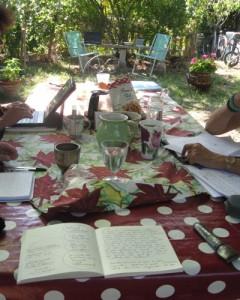 table d'écriture