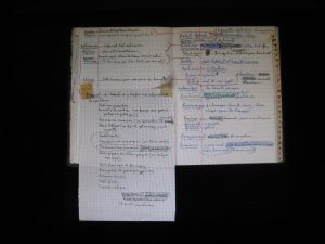 carnet de Michel Leiris, Beaubourg Metz